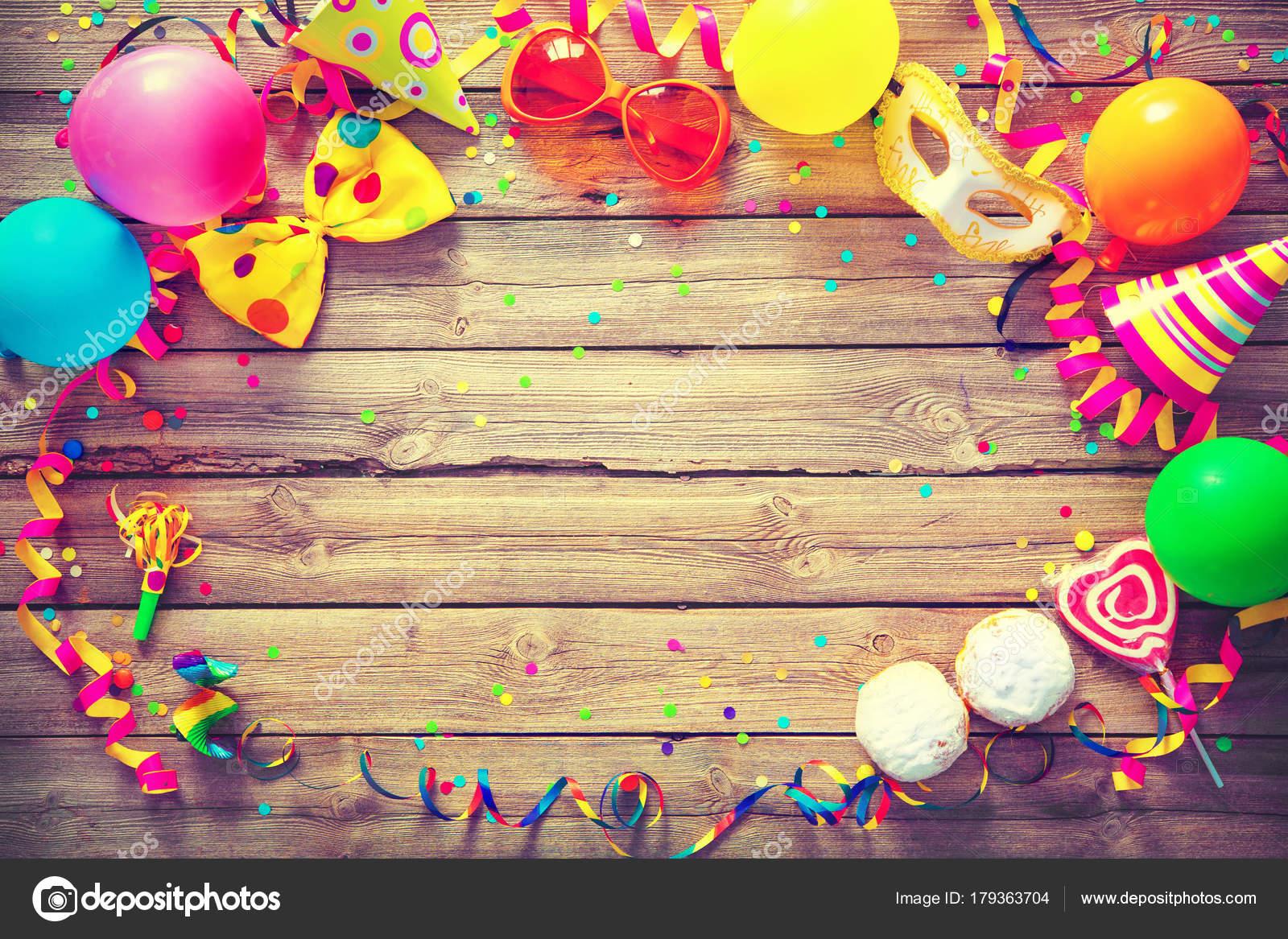 Bunte Geburtstag Oder Karneval Hintergrund Stockfoto C Alexraths