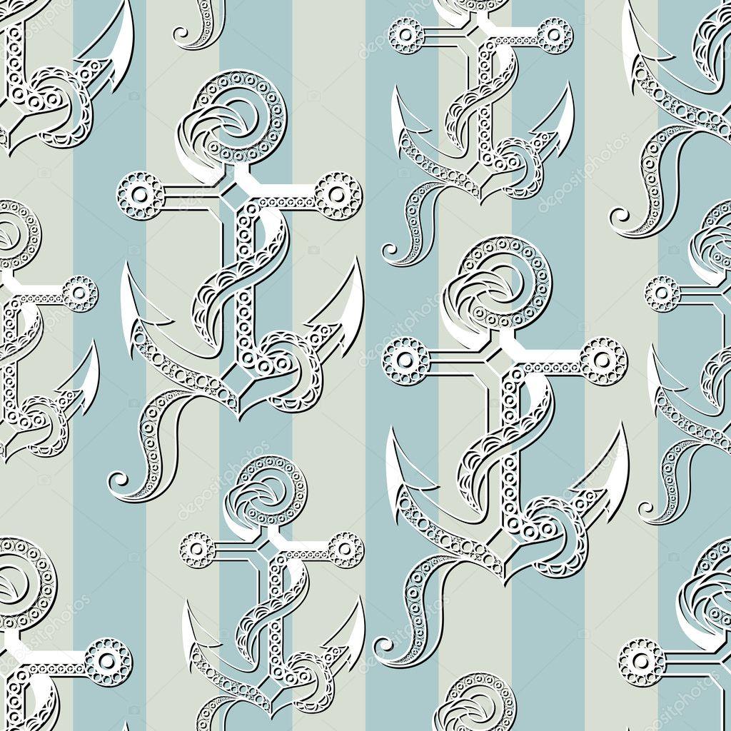 Fotos: anclas bordadas | Textura transparente con un tema náutico 18 ...