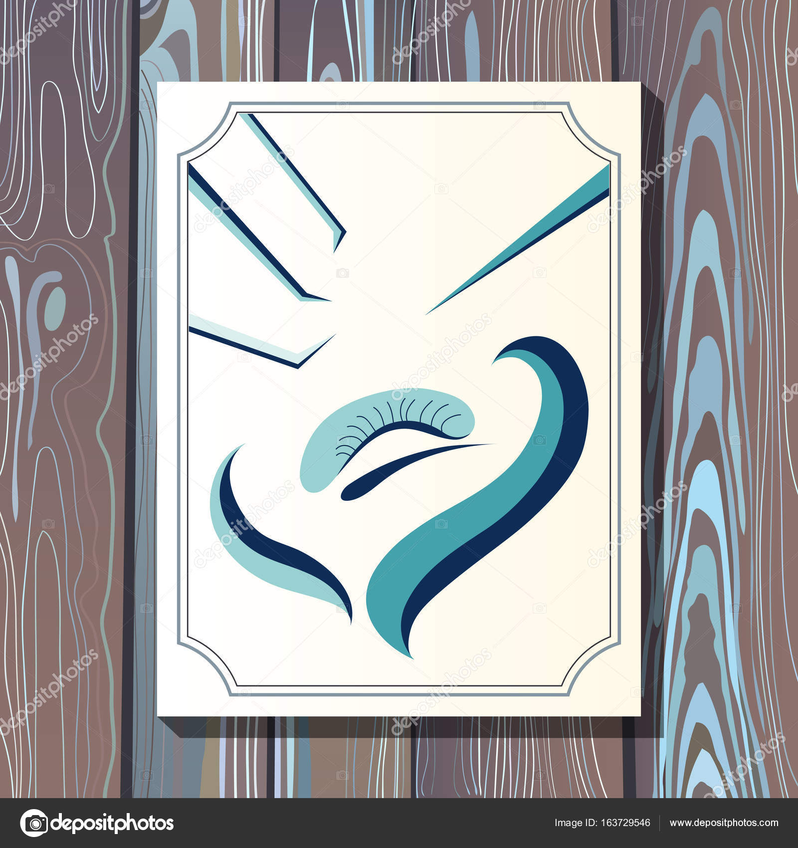 Graphic illustration with eyelash in the frame 17 — Stock Vector ...