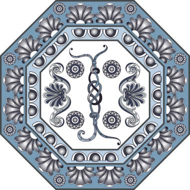 Graphic illustration with ceramic tiles 6
