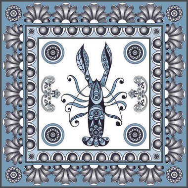 Graphic illustration with ceramic tiles 35