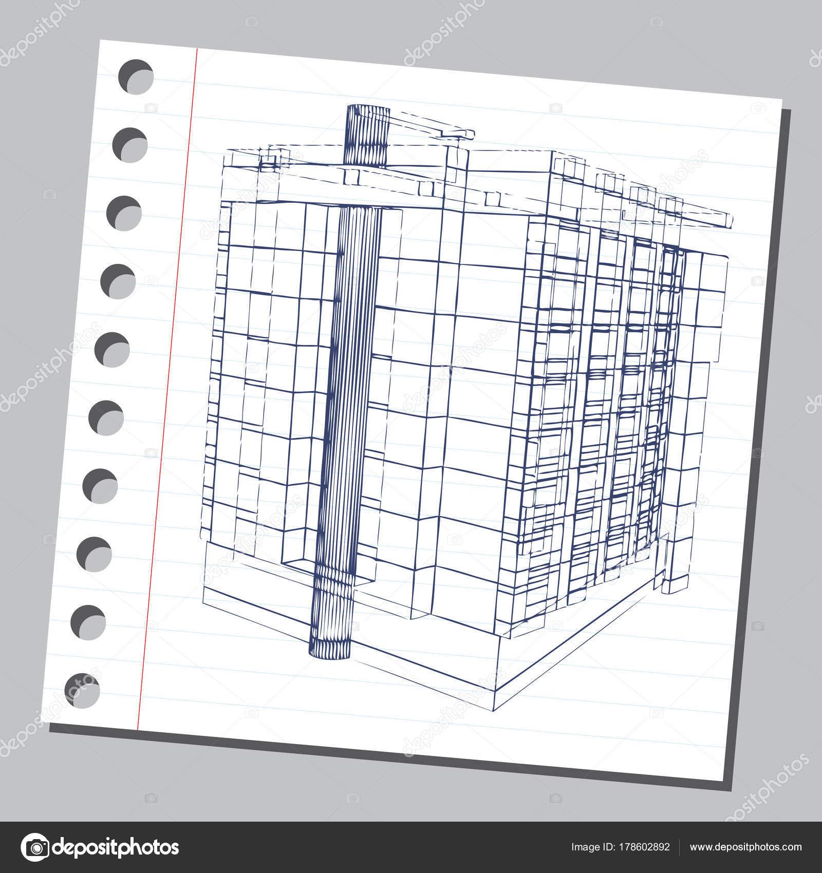 Grafische Darstellung Mit Dekorativen Architektur 6 Stockvektor
