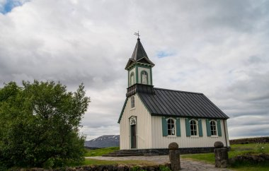 Traditional wooden buidling in Iceland