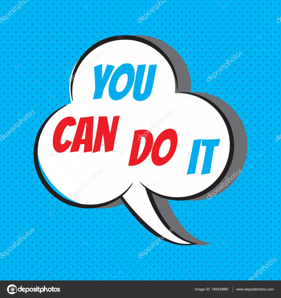 You Can Do It Motivational And Inspirational Quote Stockvector