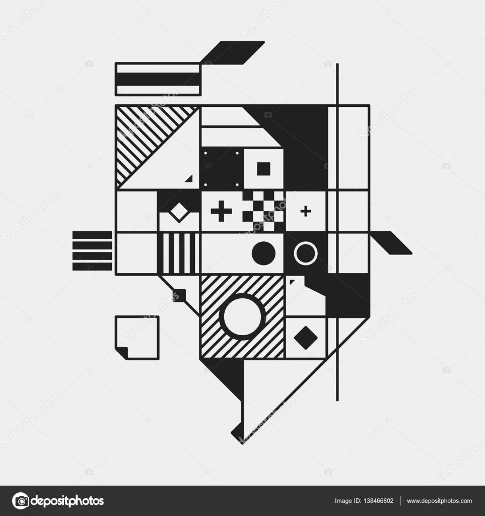 構成主義のスタイルの抽象的なデ...