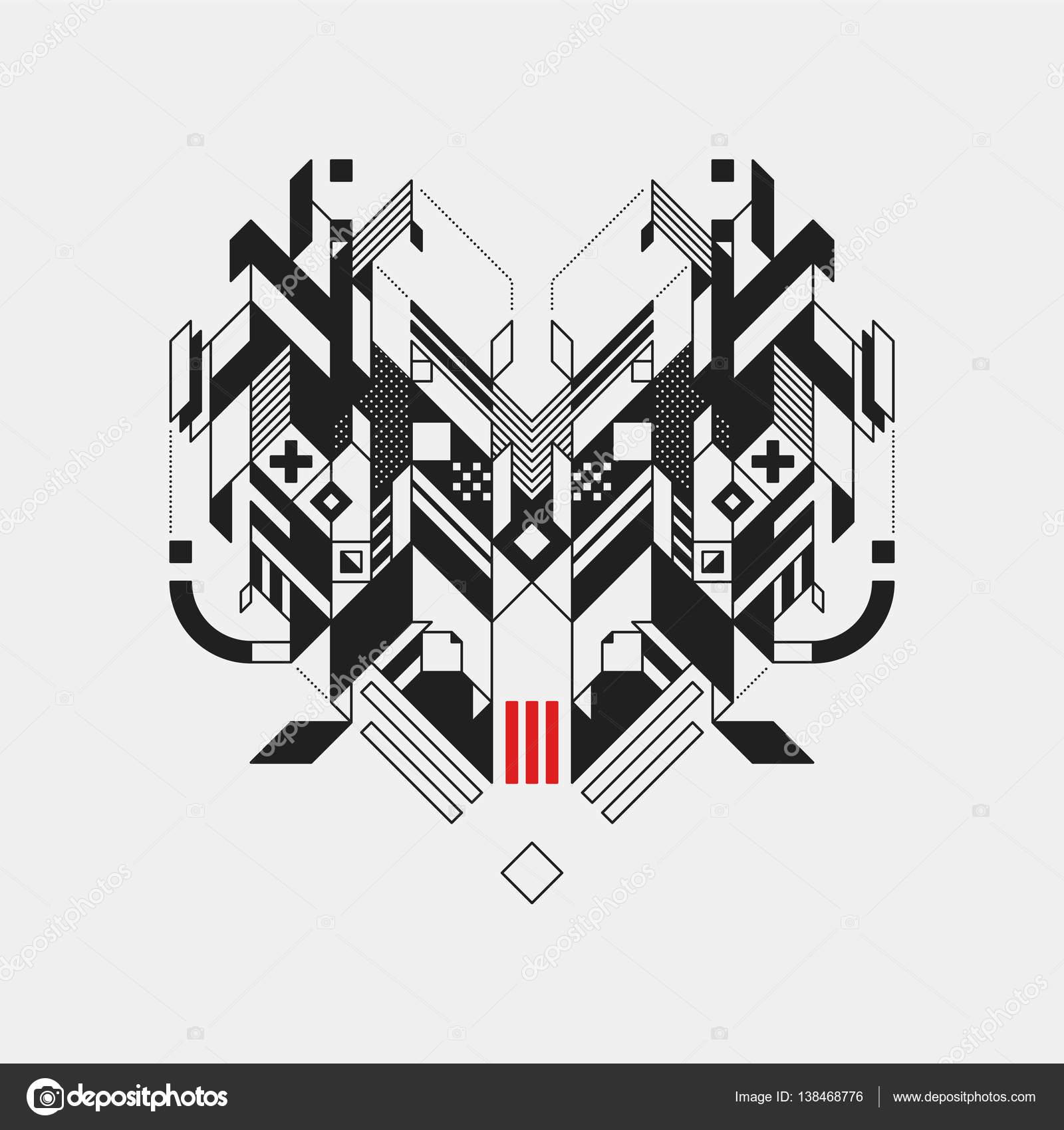 Connu de conception géométrique abstraite sur fond blanc. Design  JT56