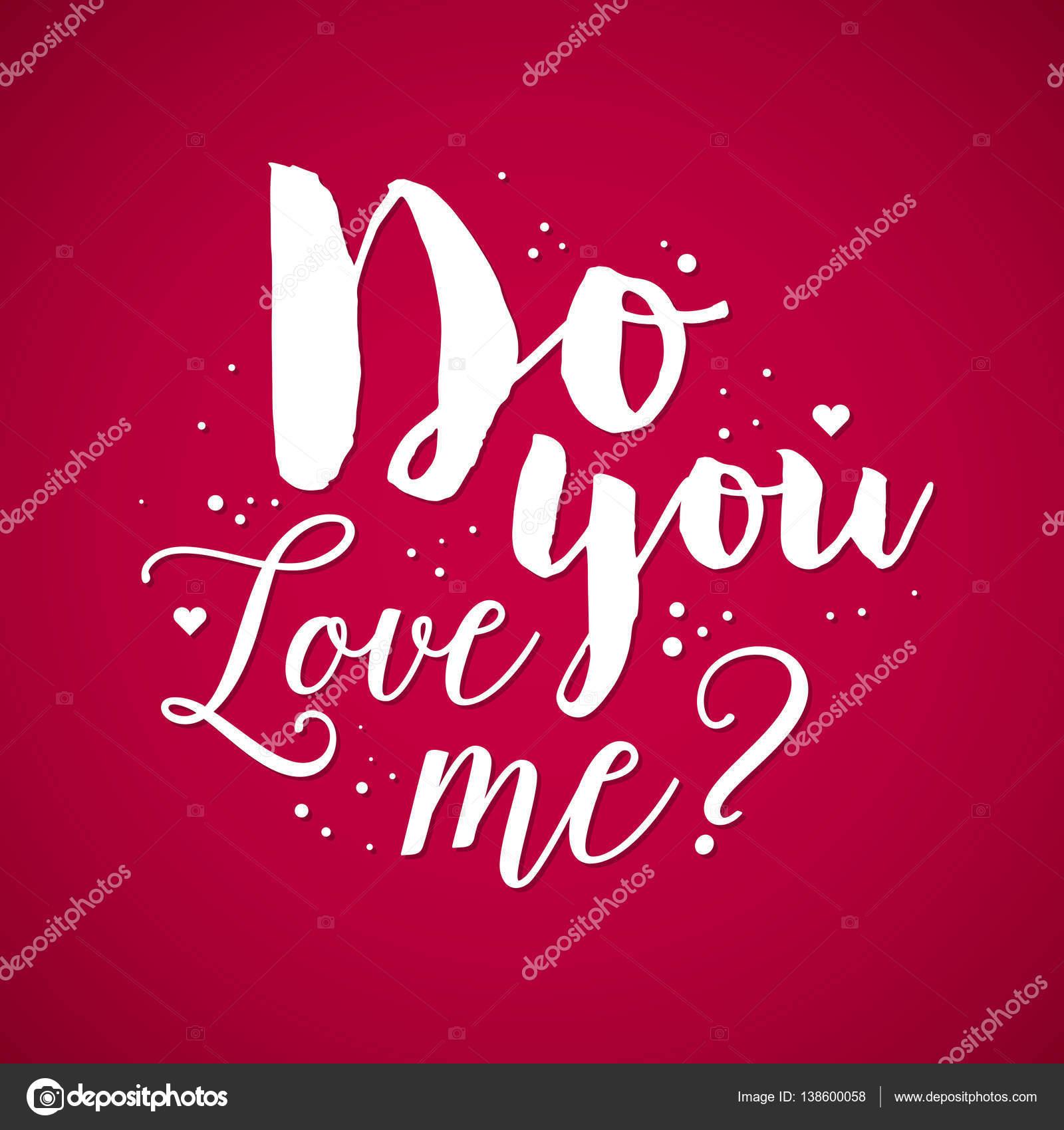 Aftelkalender Voor Valentijnsdag Achtergrond Met Tekst Do You Love