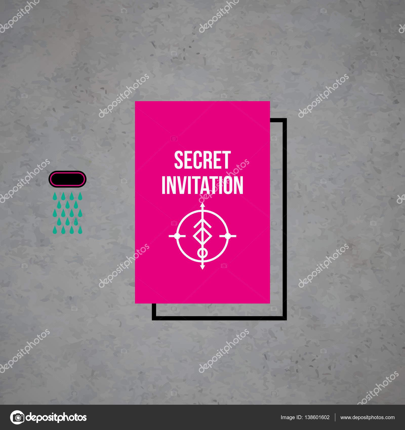 Modernes Design Kartenvorlage mit mystischen Symbolen und verrückten ...