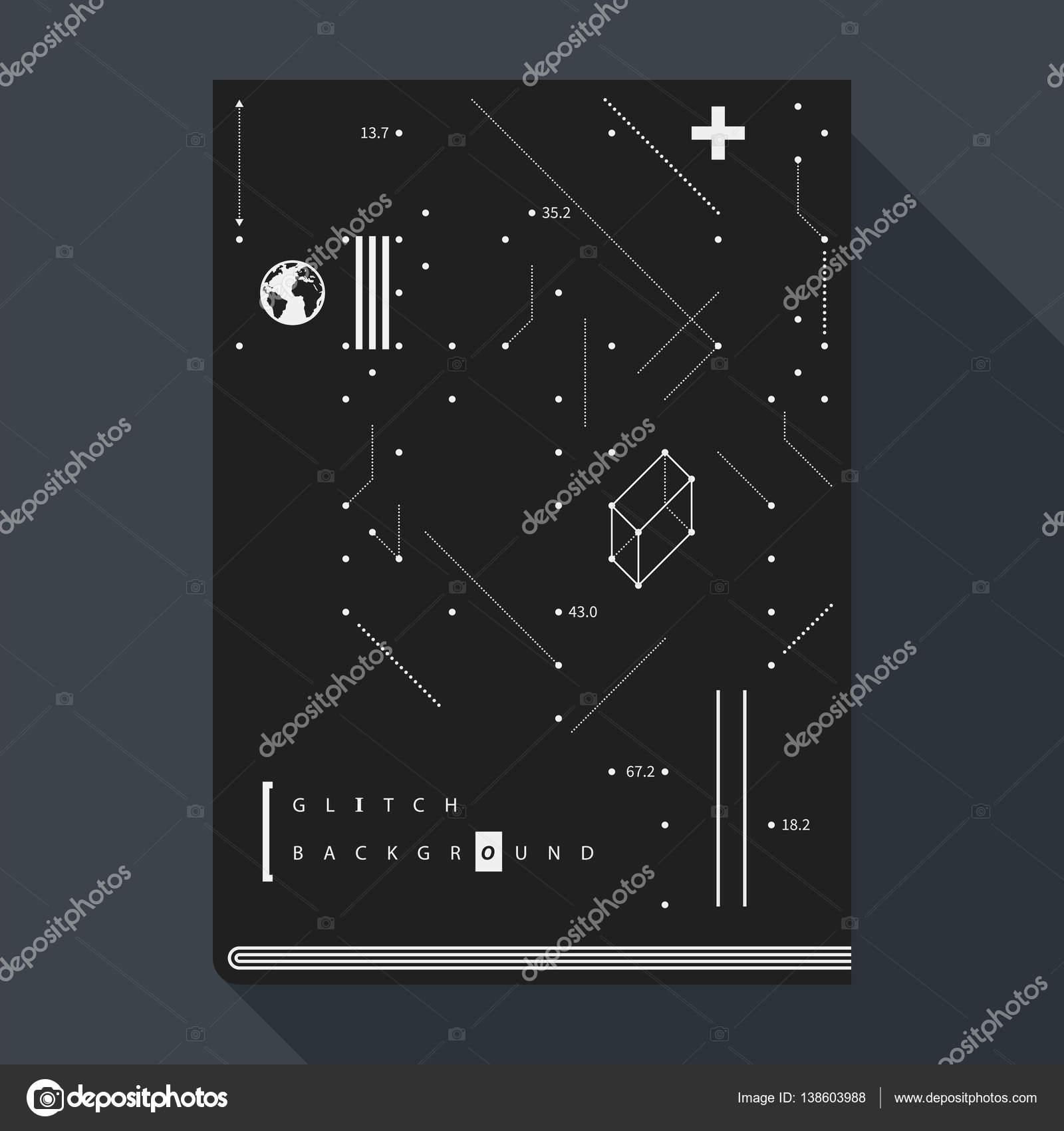 Plantilla de diseño de tapa/cartel error libro con elementos de ...