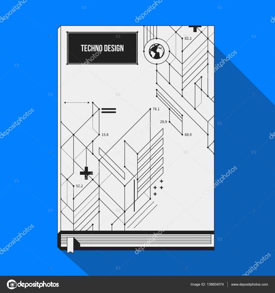 Plantilla de cubierta/cartel de libro con formas geométricas ...