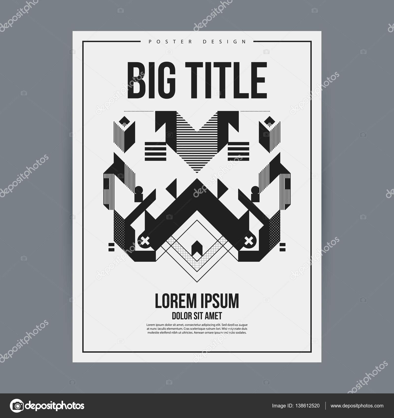 Plantilla de diseño de cartel con elemento geométrico abstracto ...