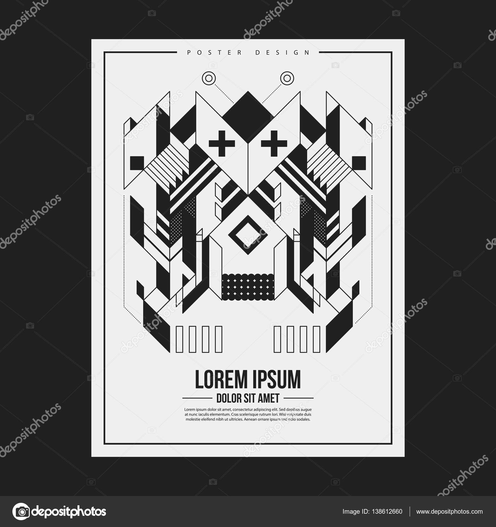 Plantilla de diseño de cartel/impresión con elemento simétrico ...