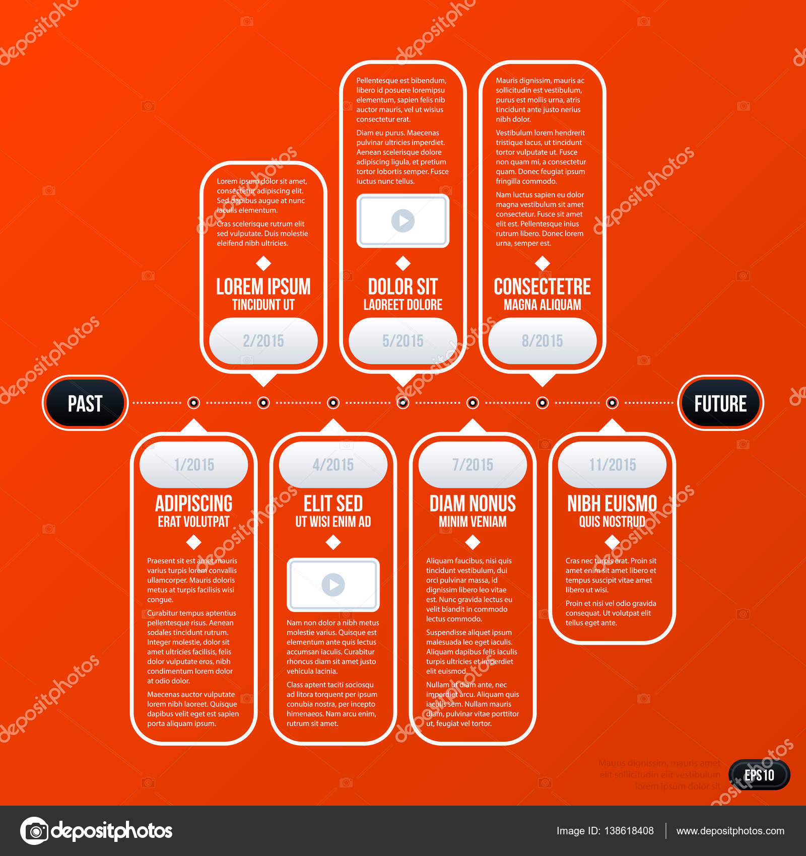 business timeline template gallery professional report
