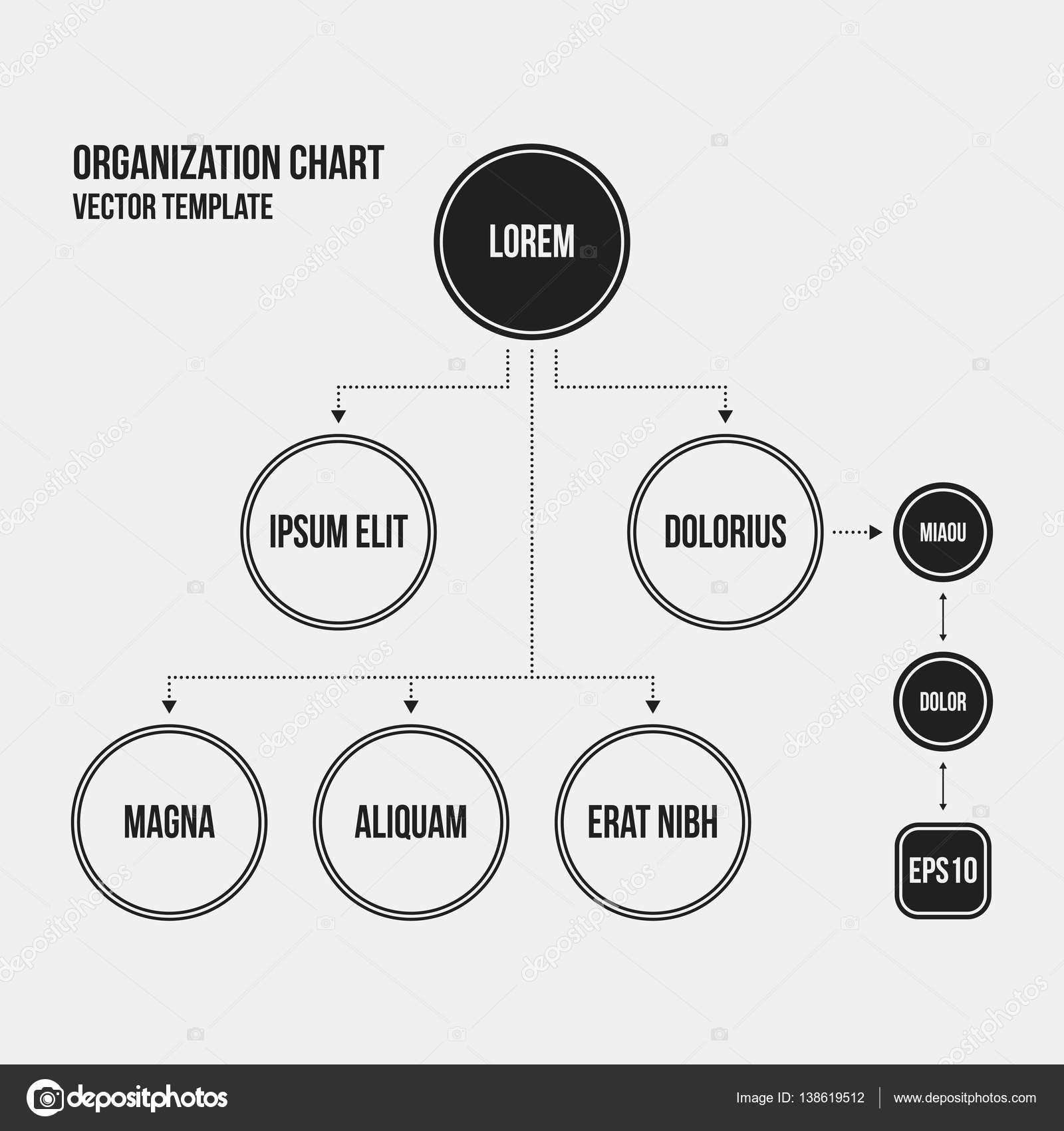 Plantilla de gráfico de organización con elementos geométricos sobre ...