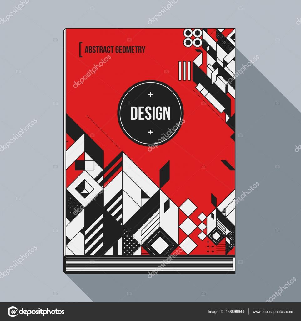 Buch Cover-Design-Vorlage mit abstrakten geometrischen Elementen ...