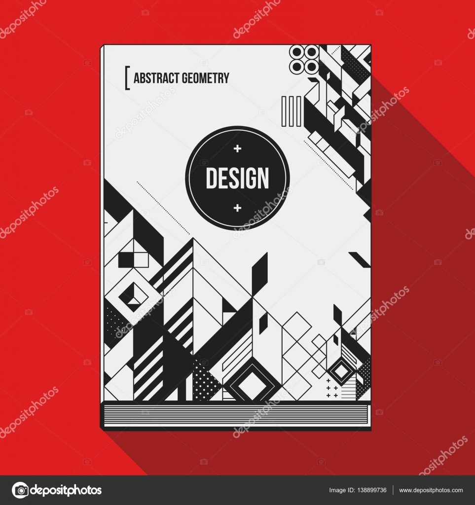 Look Book Cover Ideas ~ Book cover design template with abstract geometric