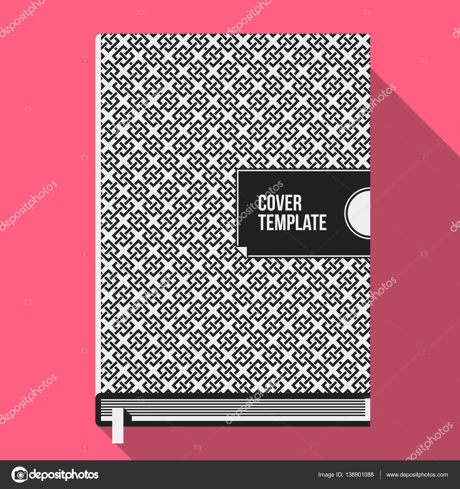 Buch Cover-Design-Vorlage mit monochrome geometrische Muster ...