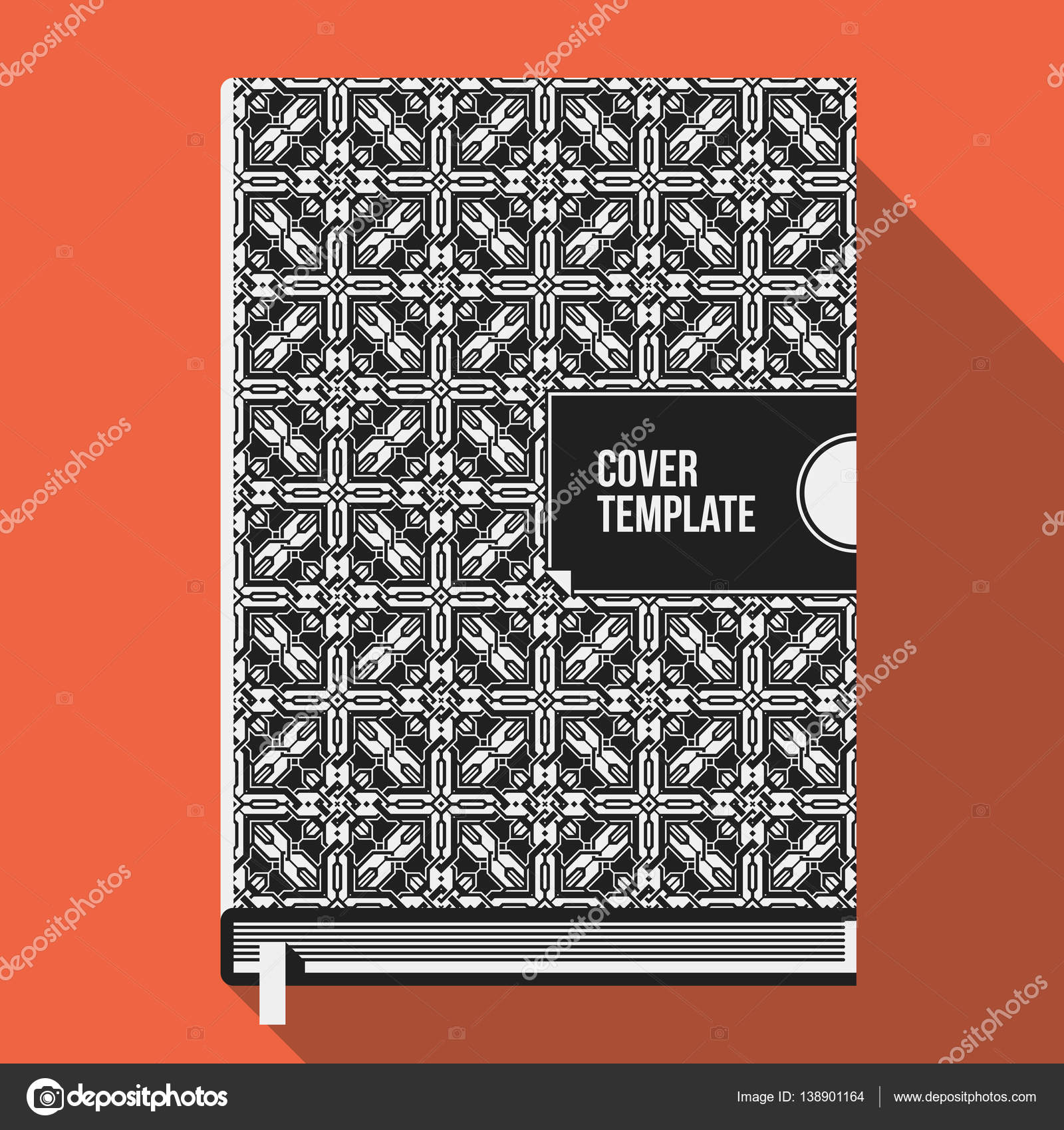 Plantilla de diseño de cubierta libro con patrón geométrico ...