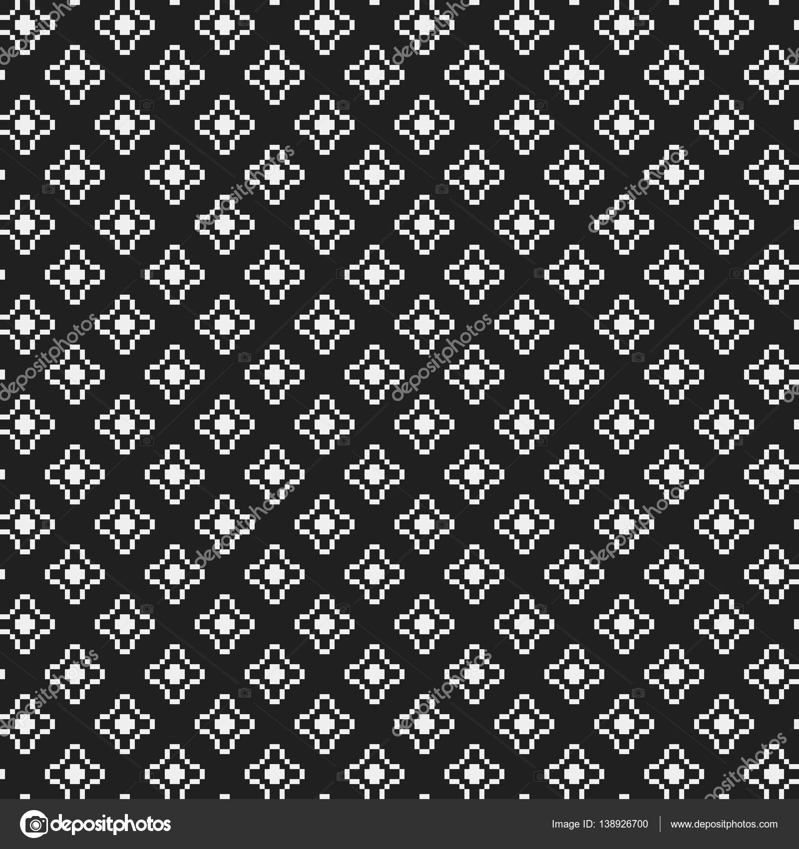 simple pixelated pattern with monochrome geometric shapes useful for textile and interior design strict - Pixelated Interior Design
