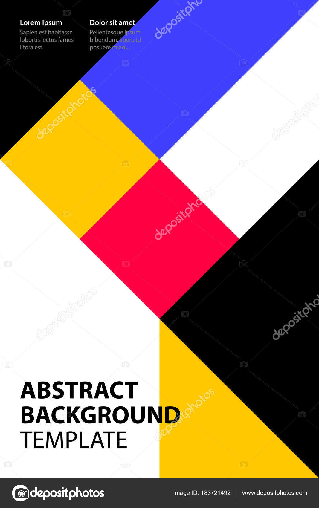 Poster Design Template | Poster Design Template With Simple Geometric Shapes In Colorful