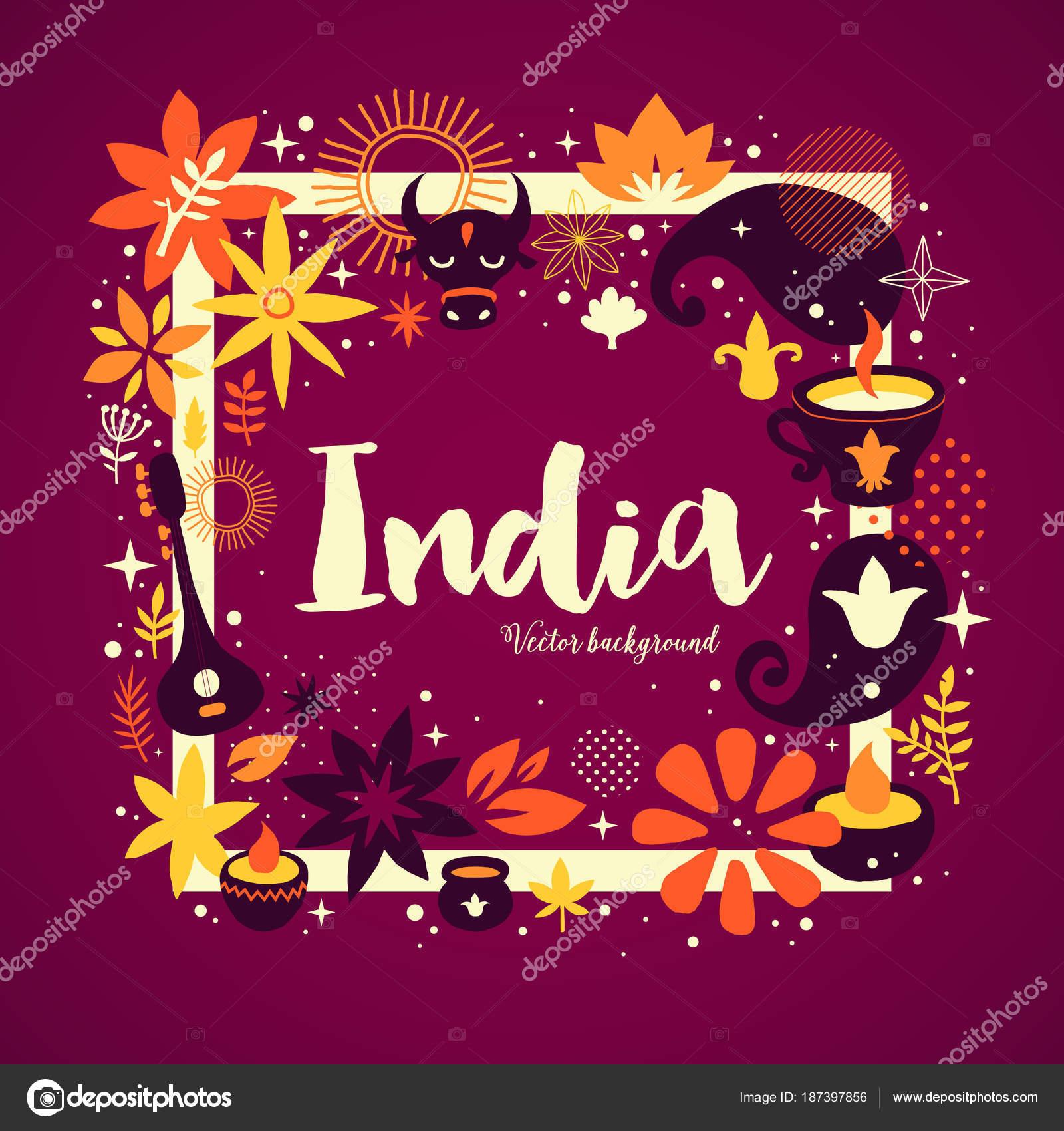Plantilla de fondo de la bandera India con elementos abstractos ...