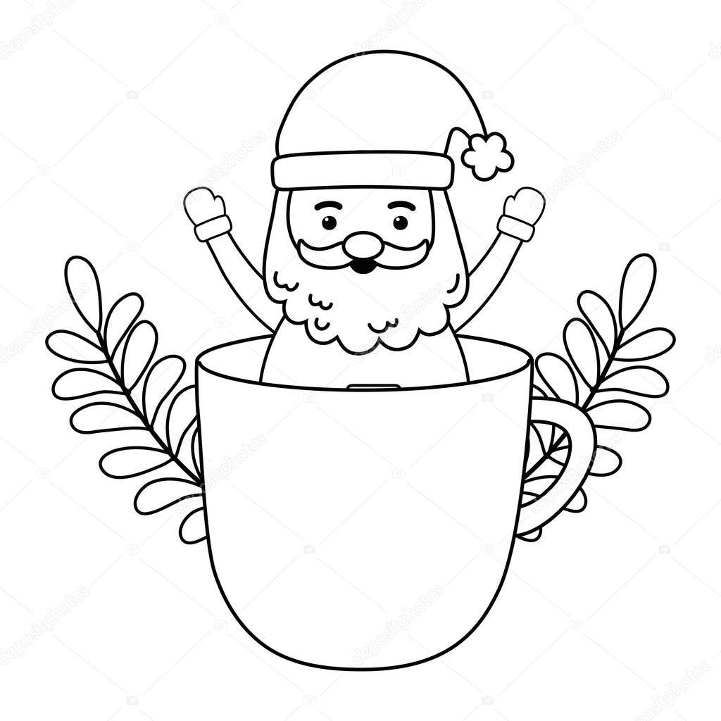 Santa Claus Design Merry Christmas Season Decoration Card Invitation Celebration And Holiday Theme Vector Illustration Premium Vector In Adobe Illustrator Ai Ai Format Encapsulated Postscript Eps Eps Format