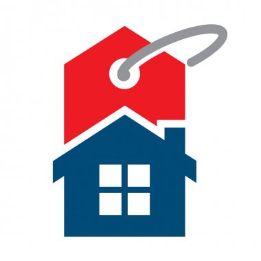 Icon illustrations for home prices, or other financing related to selling / buying and renting.