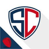Symbol-Logo / Schild-Abzeichen mit einer Kombination aus S  C-Initialen