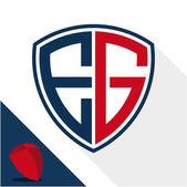 Logó ikon / pajzs kombinációja E  G Monogram jelvény