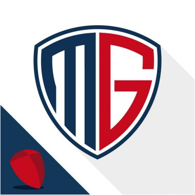 Icon logo / shield badge with combination of M & G initials