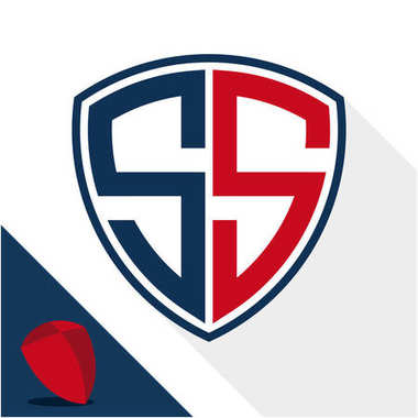 Icon logo / shield badge with a combination of S & S initials