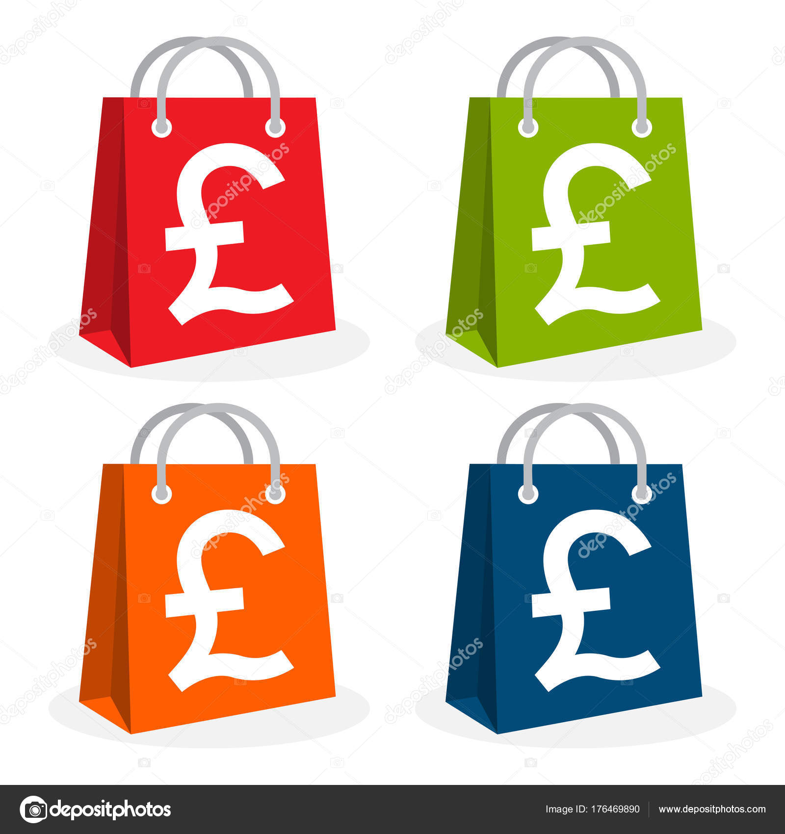 Icon Logo Shopping Business Illustrated Bag Icon Pound Sterling