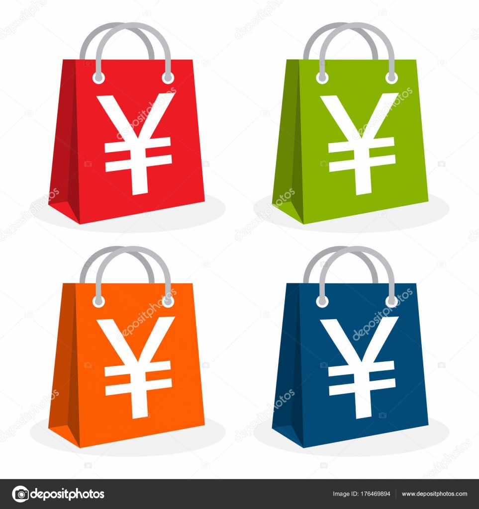 Icon logo shopping business illustrated bag icon yen yuan currency illustrated in bag icon and yen yuan currency symbol vector by apendon biocorpaavc Image collections