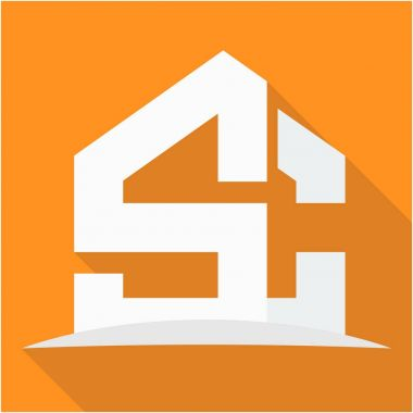 icon logo for the construction business, with combination of the initials S & C