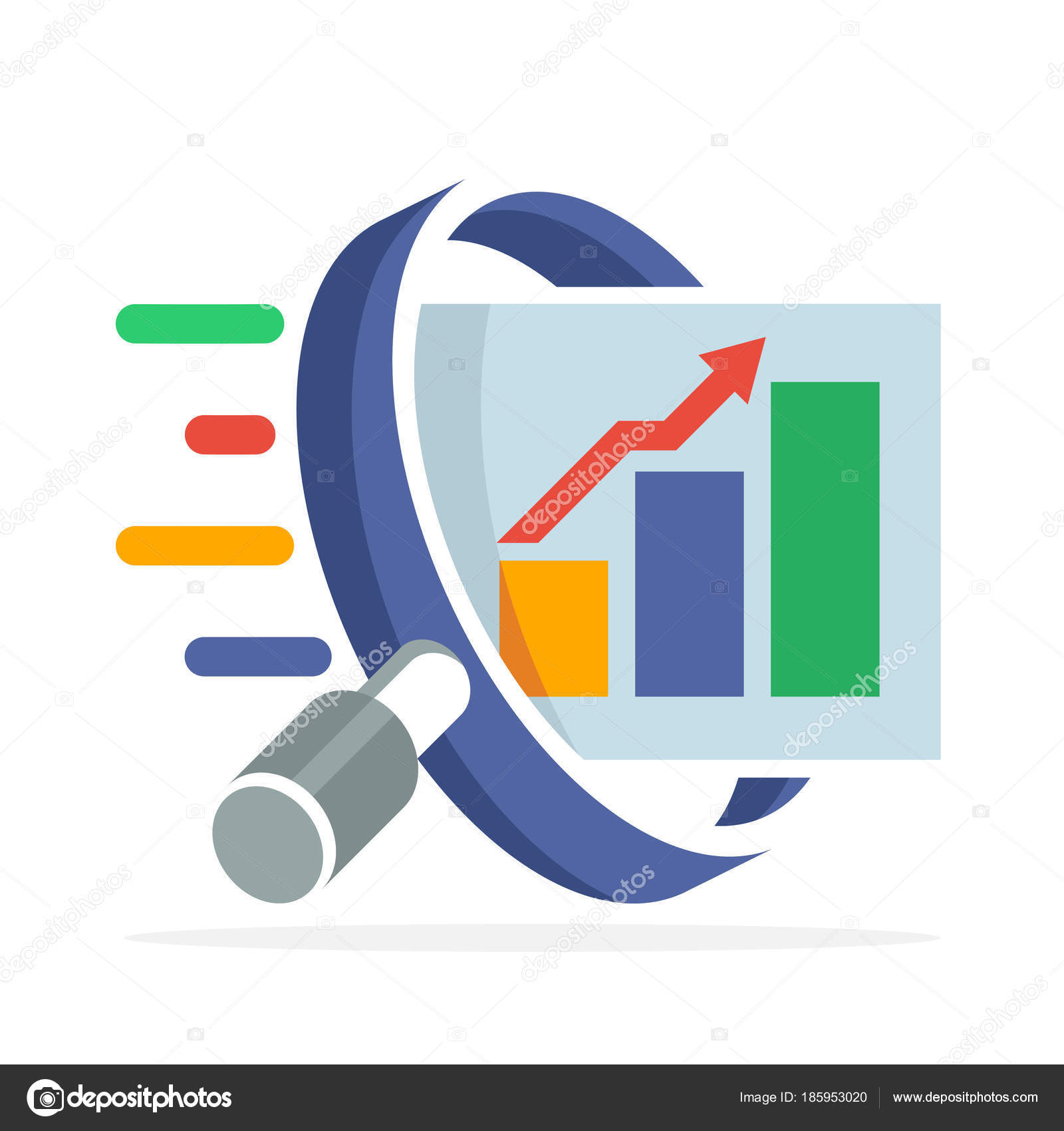 Logo icon concept searching analyzing business finance marketing logo icon concept searching analyzing business finance marketing illustrated magnifying stock vector thecheapjerseys Choice Image