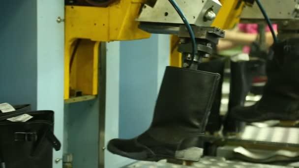 Ayakkabı Fabrika Dolgu Tabanı Sıra Için Telefonda Stok Video