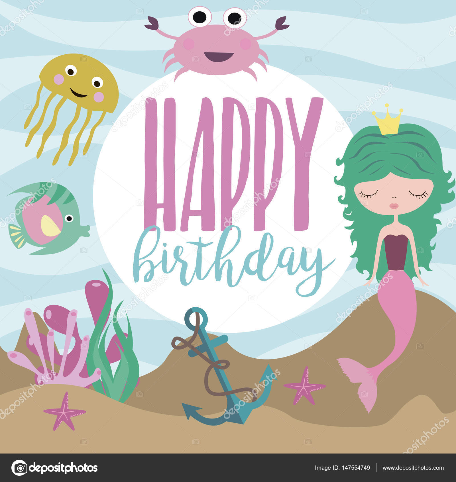 Happy Birthday Greeting Or Invitation Card Template U2014 Stock Vector  Happy Birthday Word Template