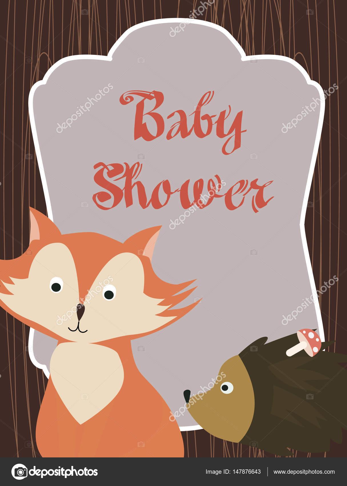 Decoracion De Baby Shower De Animales.Bosque Woodland Animales Invitaciones Baby Shower