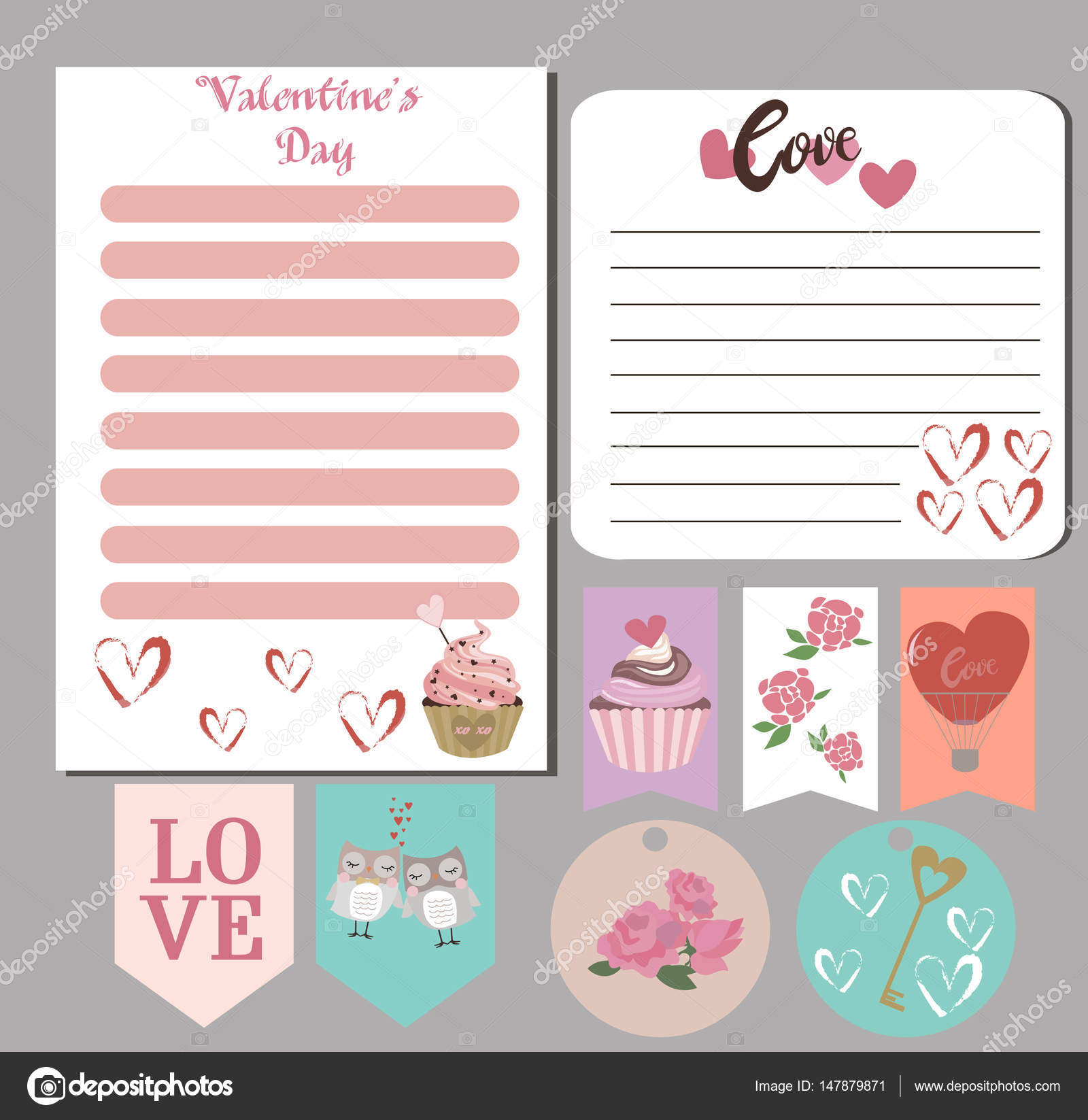 Valentines Day Cards Gift Tags Planner Stickers And Labels