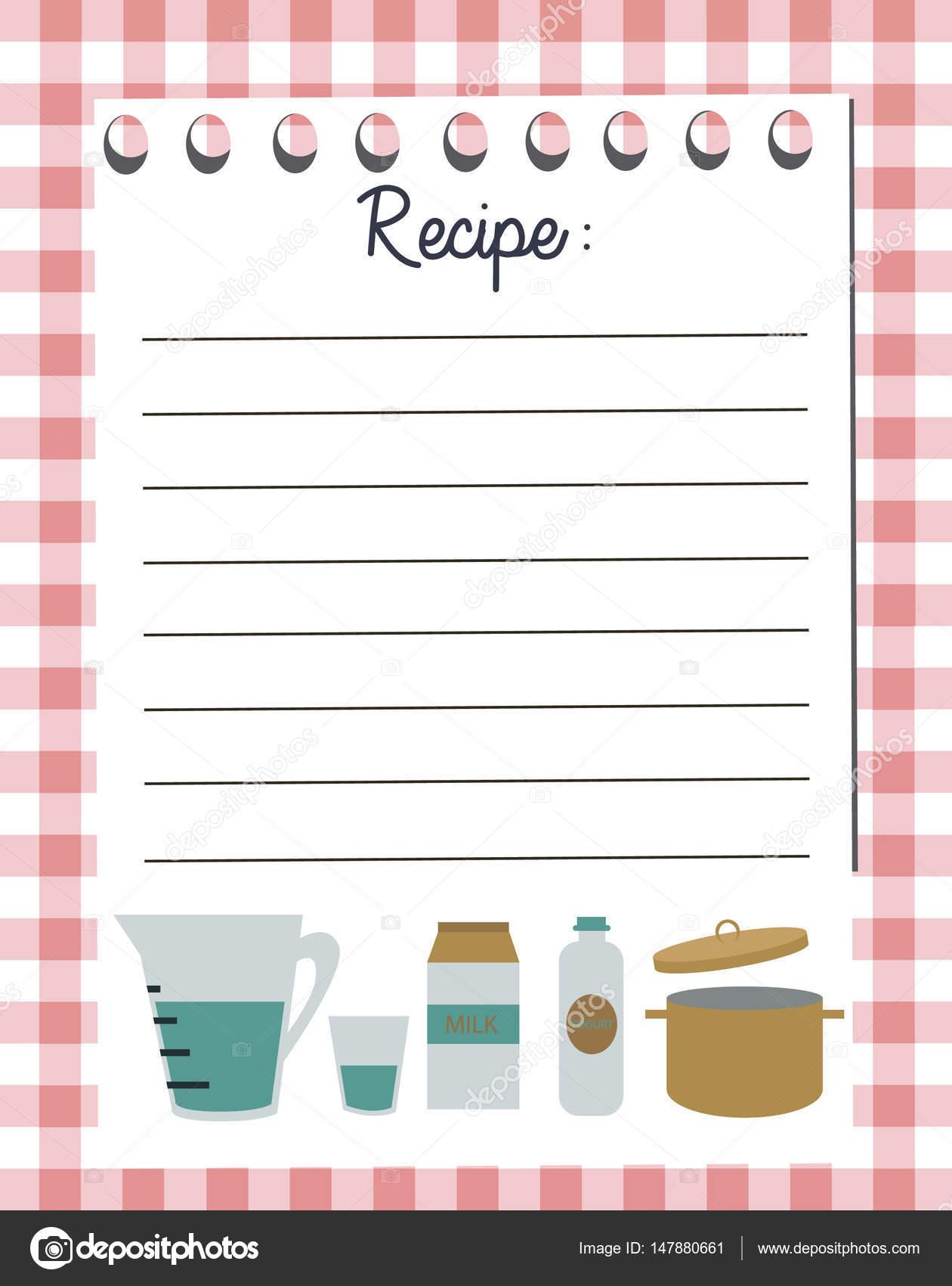 Plantilla de vector de tarjeta de receta tarjeta de ducha for Plantillas de cocina