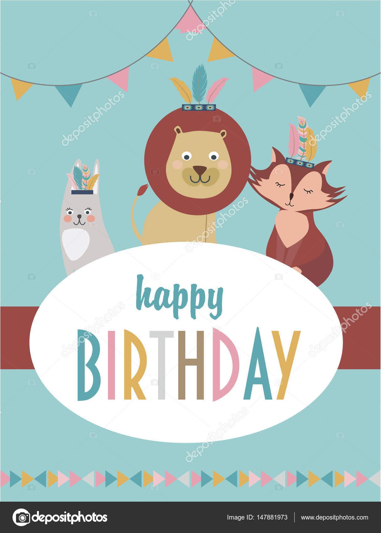 Tarjetas De Invitacion Cumpleaños Infantil Tarjeta Feliz
