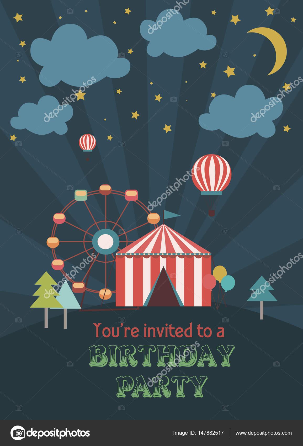 Invitacion Digital Cumpleaños Circo Fiesta Cumpleaños