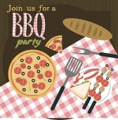 sommer party einladung grill-picknick-karte — stockvektor #148597163, Einladung