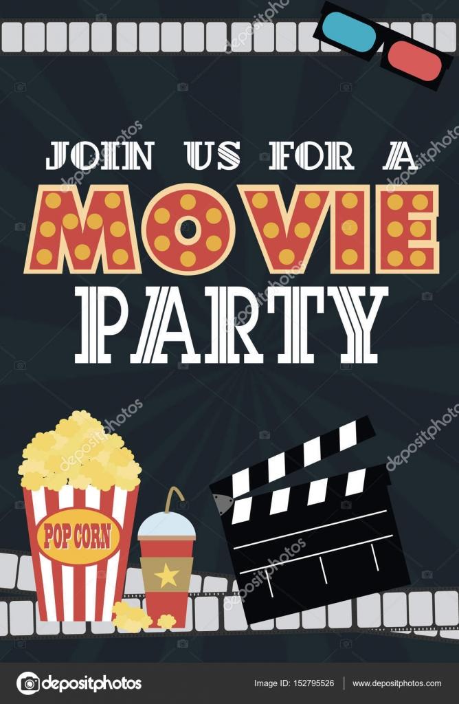 movie birthday party invitation