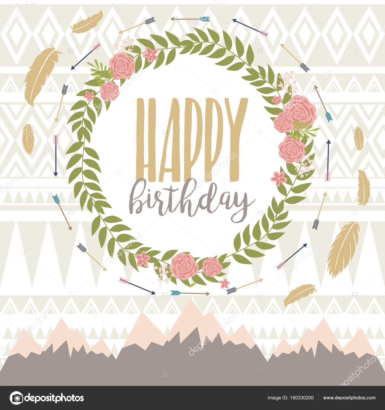 modèle de carte de joyeux anniversaire — Image vectorielle Vissay © #160330200