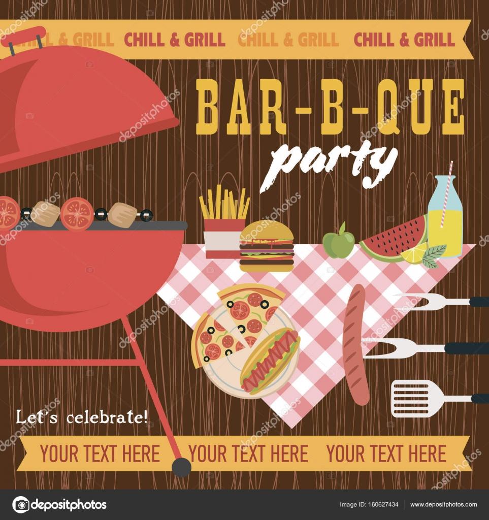 Summer picnic party invitation card stock vector vissay 160627434 summer picnic party invitation card stock vector stopboris Images
