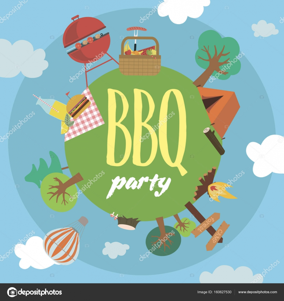 Summer picnic party invitation card stock vector vissay 160627530 summer picnic party invitation card stock vector stopboris Images