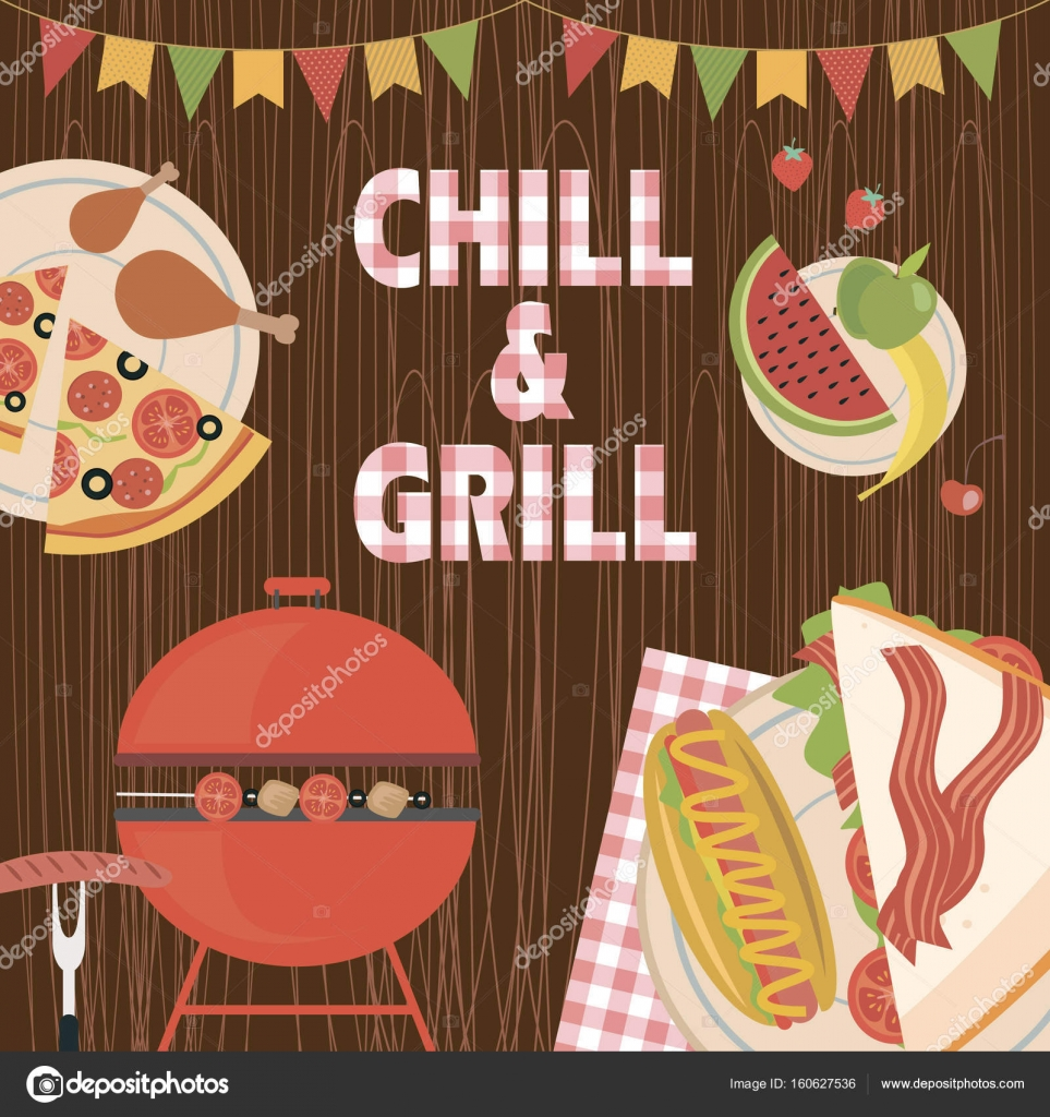 Summer picnic party invitation card stock vector vissay 160627536 summer picnic party invitation card stock vector stopboris Images