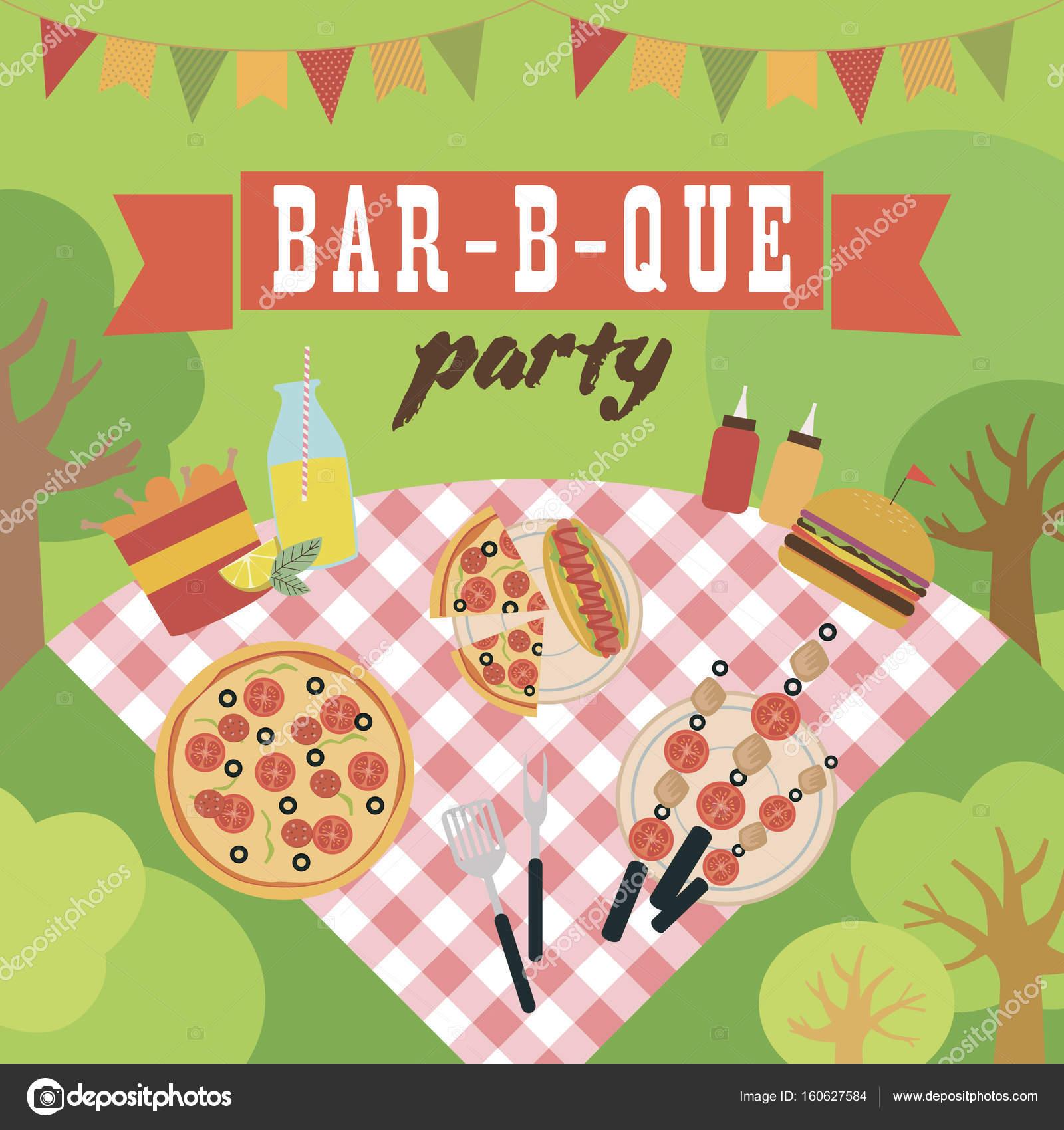 summer picnic party invitation card stock vector vissay 160627584