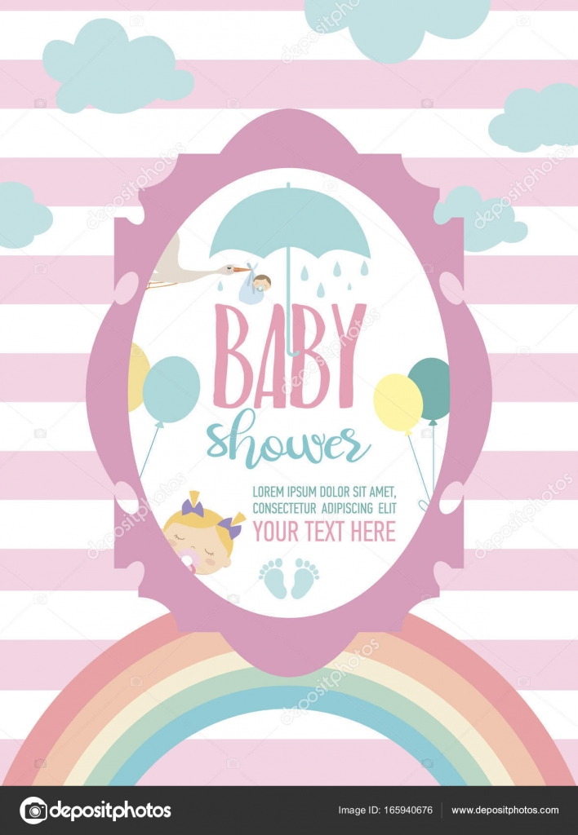Imágenes Invitaciones Baby Shower Linda Tarjeta De